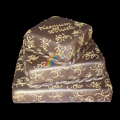 Сватбена торта шоколадов фондан.