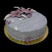 Сватбена торта с лилиуми