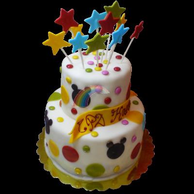 Детска торта шарен свят