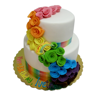 Сватбена торта Дъга