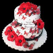 Сватбена торта макове