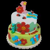 Торта Пеперуди и цветя