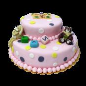 Двуетажна детска торта.