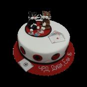 Торта котета с карти