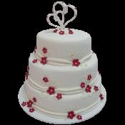 Сватбена торта с рози