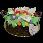 Торта кошница цветя