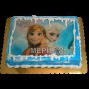 Торта Замръзналото кралство